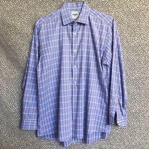 Ben Sherman Blue Plaid Tailored Fit Shirt N16.5